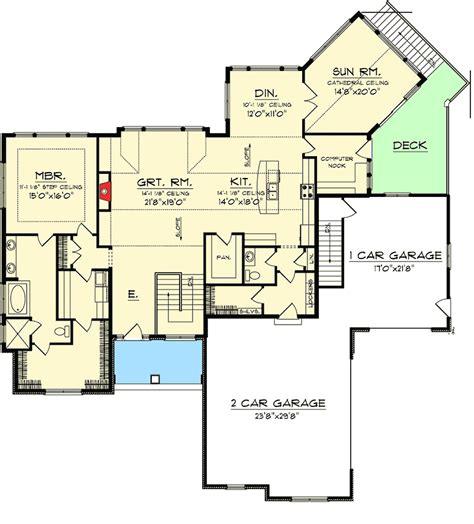 28 ranch house plans with walkout ranch homeplans ranch house plans with walkout basement