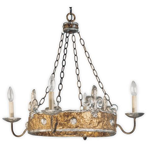 silver and chandeliers crown hoop chandelier in gold with silver fleur de lys