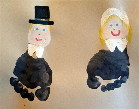 pilgrim crafts for footprint pilgrims and cornucopia crafts crafty