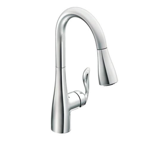 chrome kitchen faucet moen 7594c arbor one handle high arc pulldown