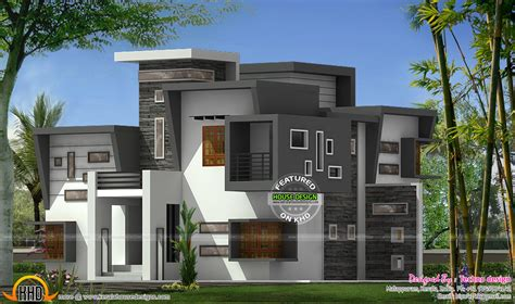 flat home design contemporary flat roof house kerala home design and