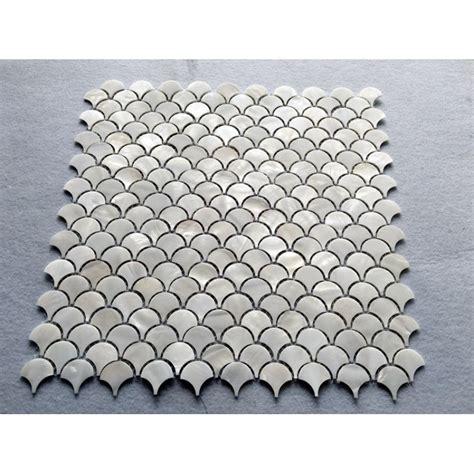 shell tile backsplash white shell tile backsplash of pearl mosaic