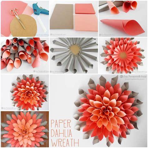 paper flowers craft ideas creative ideas diy beautiful paper dahlia wreath paper