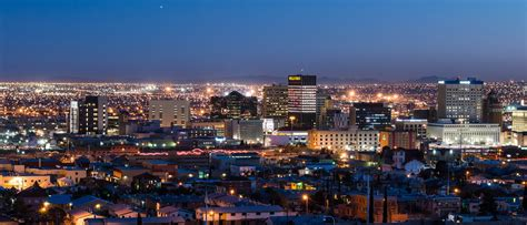 free stock photo of cityscape with lights of el paso