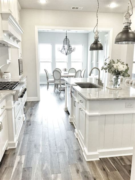 white kitchens with floors best 25 wood tile kitchen ideas on