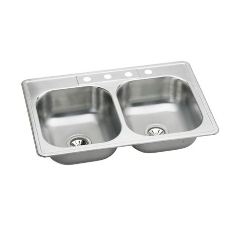 neptune kitchen sink elkay neptune top mount stainless steel 33 in 4