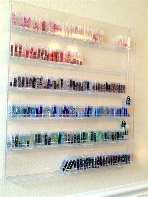 beading storage craft room seed bead storage idea nail rack and