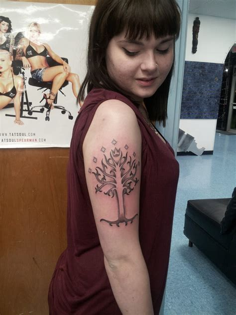 lotr white tree of gondor done at platinum tattoo satx