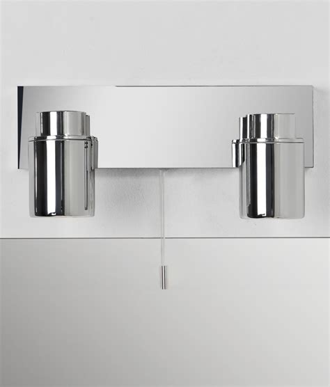 bathroom wall lights with pull cord bathroom wall mounted spotlight in polished chrome