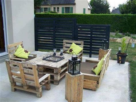 outdoor furniture made out of pallets what s more creative than patio furniture made out of