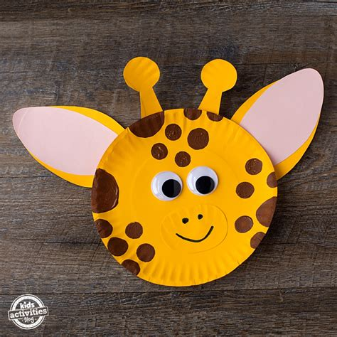 giraffe paper plate craft paper plate giraffe craft