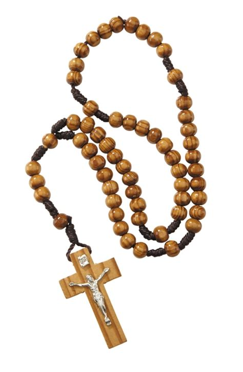 rosary for devotional items 6mm wood cord rosary 12 pk