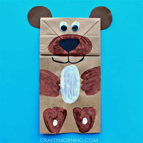 paper bags crafts paper bag puppet can make crafty morning