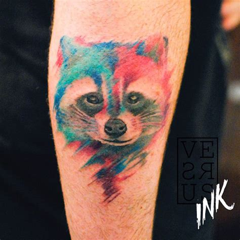 watercolor raccoon tattoo best tattoo design ideas