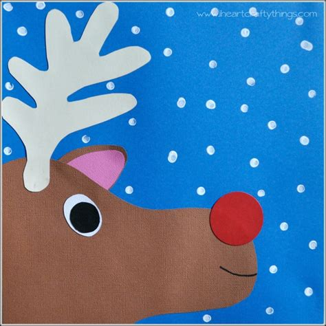 reindeer paper crafts rudolph paper craft for i crafty things