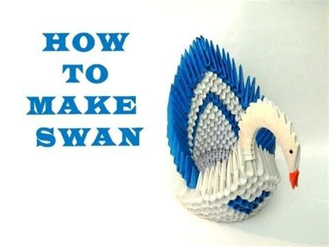 how to make a 3d swan origami 1000 ideas about origami swan on 3d origami
