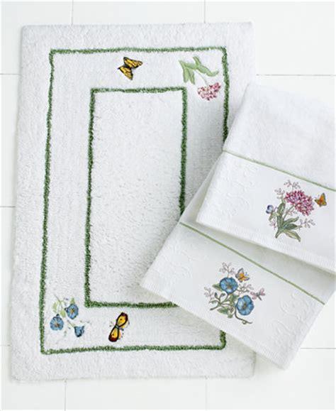 lenox bathroom accessories lenox bath accessories butterfly meadow bath rug
