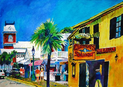 key west painting contemporary painting quot green key west quot original