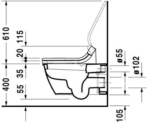 Duravit Toilet Water Level by Duravit Darling New Toilets Toilet Wall Mounted 254409