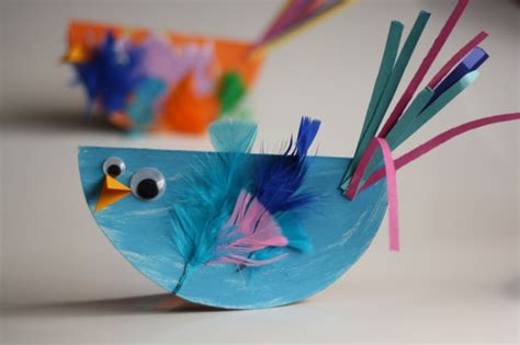 construction paper crafts for preschoolers paper plate bird craft for easy and so