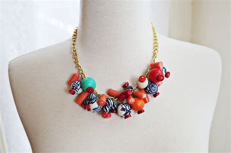 how to make statement jewelry simple beaded statement necklace x2 a beautiful mess