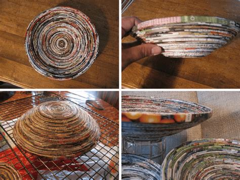 paper bowl crafts 10 diy rolled paper crafts from recycled magazines