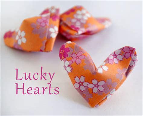 origami lucky zakka origami lucky hearts