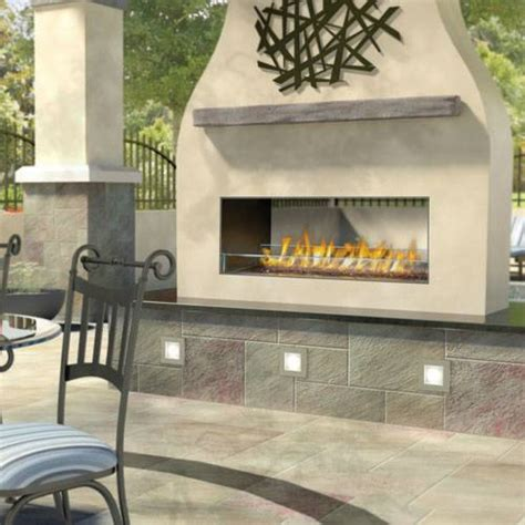 outdoor linear gas fireplace napoleon gss48st galaxy series see thru outdoor linear gas