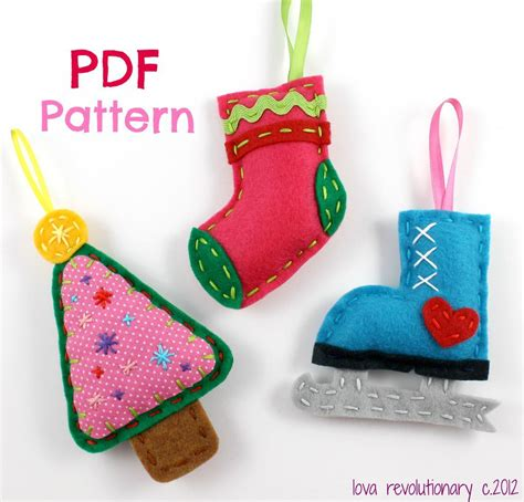 ornament patterns sewing felt by lovahandmade sewing pattern