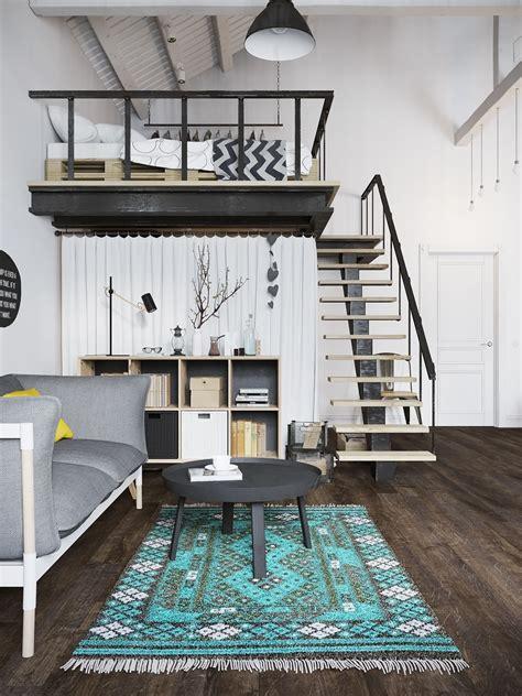 small loft small modern loft in prague with scandinavian style decor