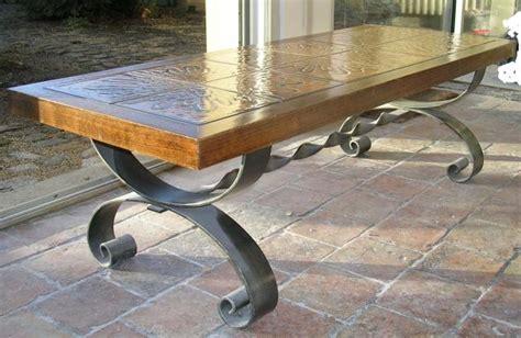 table basse bois et fer forg 233 laval 53000