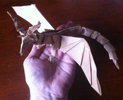 origami darkness 415 smaug the golden setting the crease