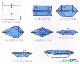 origami kapal boat 折纸基础教程 纸船的折法 letusdiy 来此地diy网