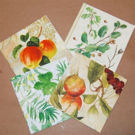 decoupage with leaves decoupage fruit and leaves set 4 paper from craftpapersource