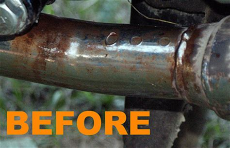 spray paint exhaust pipe iron out rust remover specific detail rust removal exhaust