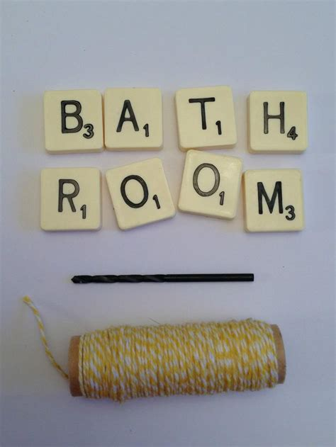 scrabble signs things to do with scrabble tiles scrabble bathroom sign