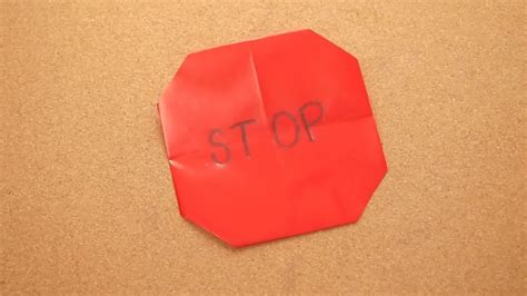 origami sign how to make an origami stop sign 6 steps with pictures