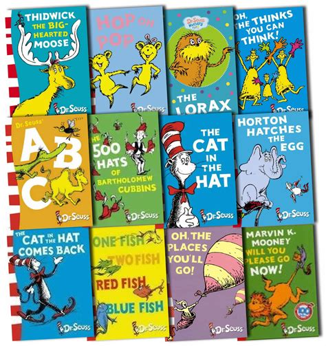 dr seuss books pictures dr seuss collection 12 books set pack new hb dr seuss ebay