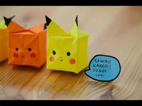 origami raichu pikachu origami what you will need a square yellow