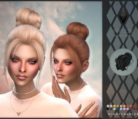 custom contant hair in the sims 4 the sims 4 female hair custom content downloads