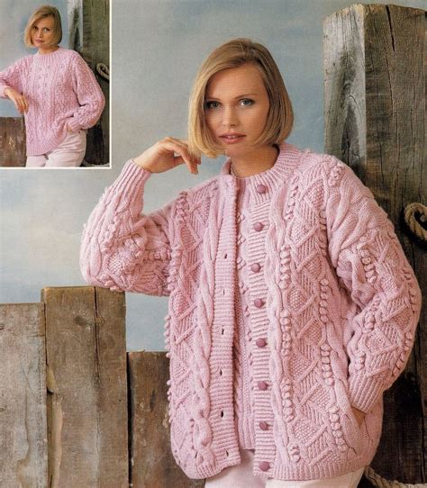 womens jumper knitting patterns free aran dk neck cardigan sweater knitting pattern