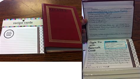 make your own card sleeves easy way to make your own recipe book take a cheap photo