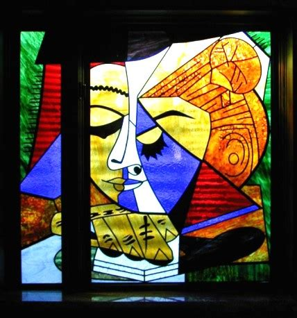 picasso glass picasso style stained glass