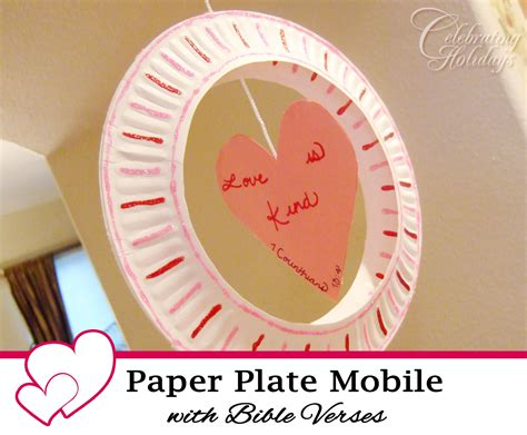 paper valentines crafts paper plate mobile craft with a bible verse celebrating