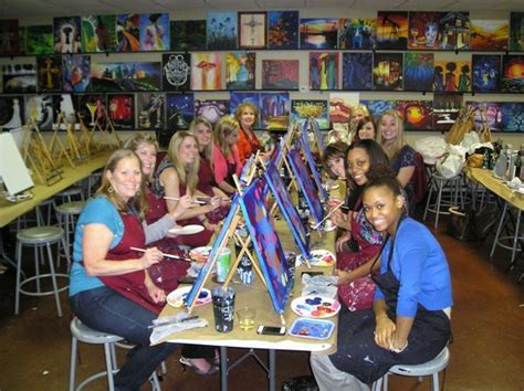paint with a twist houston company event painting with burnett specialists
