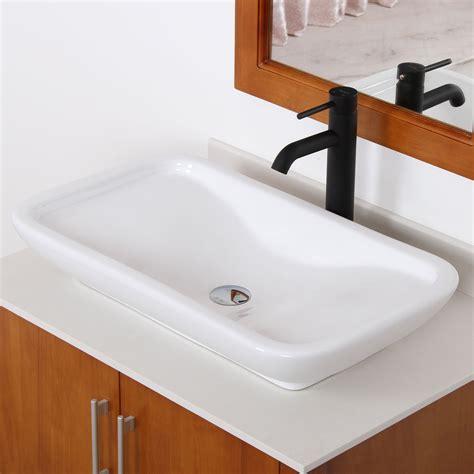 kitchen sink shower elite ceramic bathroom sink with unique rectangle design