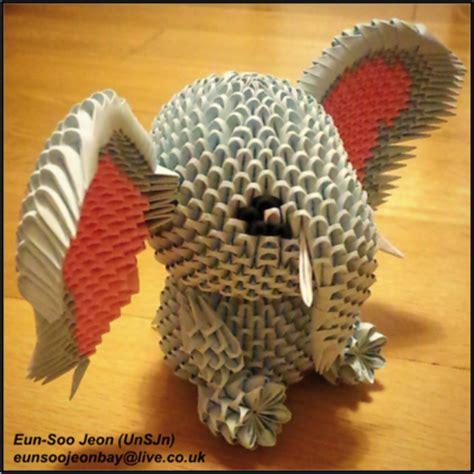 3d modular origami 3d modular origami elephant side view by unsjn on deviantart