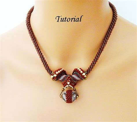 beaded jewelry tutorials pdf for beadweaving necklace beading tutorial beadwoven