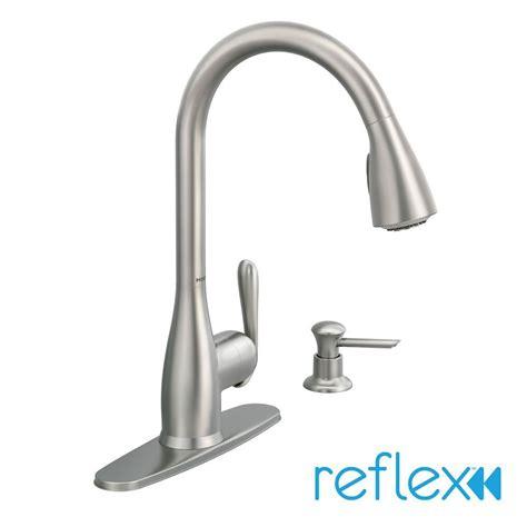 moen kitchen sink sprayer moen 87877srs haysfield pull sprayer kitchen faucet