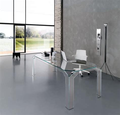office desk glass nervi glass office desk by tonelli design